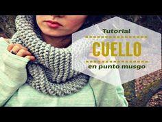 Tejer un cuello fácil en punto musgo (o Santa Clara) en telar circular - YouTube