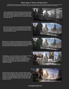 Skyrim Fantasy Ruins_Steps by AlexRuizArt.deviantart.com on @deviantART