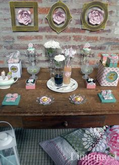 Pretty shabby chic Mother's Day party! See more party planning ideas at CatchMyParty.com!