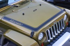 Wrap around Hood Decal to fit Jeep Wrangler JK - Retro Wrangler Design
