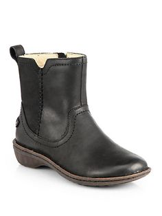 UGG Australia - Neevah Leather Mid-Calf Boots - Saks.com