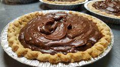Making chocolate pie at Charlotte's Eats and Sweets for Make Room for Pie.  #makeroomforpie #tiedyetravelling #pie #arkansaspie #charlotteseatsandsweets #arkansasfood #aetn @aetn