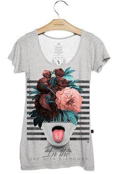 Camiseta Feminina Lucy - Comprar em Red Feather varejo - CÓDIGO PROMOCIONAL…