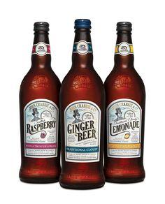 John Crabbie & Co. Traditional Soft Drinks | #bottledesign #packaging #softdrinks