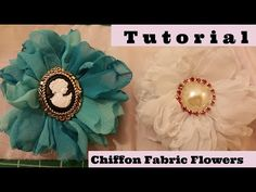 YouTubehttps://youtu.be/2vhvjUeRmVQ Chiffon fabric flower tutorial,  Shabby Chic , easy to make, diy how to flowers, no sew flower making.