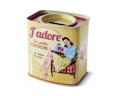 """Tirelire """" Cochon """" Natives déco rétro  french vintage"""
