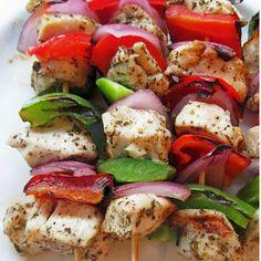 Marinated Greek Chicken Kabobs | Travis Martin TV - Weight Loss and Wellness