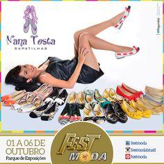 Melhor que encontrar um par perfeito, é encontrar vários. E a Nana Sapatilhas traz lindas peças para todos os looks, com cores leves, descontraídas, elegantes e confortáveis. ... Não deixe de visitar o stand da Nana na 24ª Fest Moda Brasil no Parque de Exposições, de 1 a 6 de outubro das 14h as 21h. Fest Moda é #modabahia #modabahiana #modabahiadesign #modasalvador #modapraia #salvador #bahia #modafashion #modafitness #modaparameninas #moda #fashionista #festmodabrasil #festmoda #feirademoda…