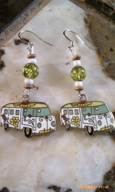Hippie Peace Love Volkswagen VW Bus  Traveling Gypsy by MAMASTEELE, $18.95