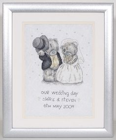 Me to You (Tatty Ted) Counted Cross Stitch Kit - Our Wedding Day Record - Anchor Intermediate 14# Me To You Wedding/Anniversary - Atlascraft