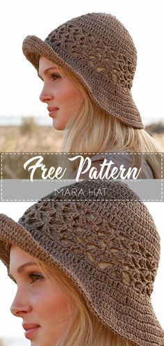 Feb 2020 - Mara Hat – Pattern Free Hey, everybody, ladies. In this project we will learn to make crocheted hats with you. Every tasteful lady can use this beautiful crocheted knit hat model to knit herself goodbye. Easy Crochet Hat, Crochet Diy, Crochet Beanie, Crochet Crafts, Crochet Projects, Knitted Hats, Knitting Patterns, Crochet Patterns, Armband Diy