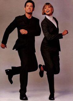 Linda Evangelista & Kyle MacLachlan for  Vogue US, November 1996 by Steven Meisel