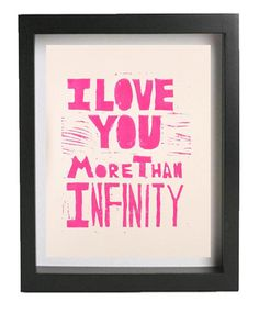 VALENTINE I Love You More Than Infinity Original by nikimilns, $18.00