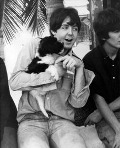 Beatle Paul McCartney With An Adorable Puppy Pal