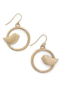 A Chance Tweeting Earrings   ModCloth.com