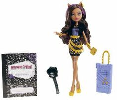 Monster High Travel Scaris Clawdeen Wolf Doll by Mattel. $19.66. Each doll wears a new travel outfit complete with jewelry and comes with a rolling suitcase and travel journal. The ghouls of Monster High are hitting the skies for their first trip abroad together in monster style. They are freakishly fabulous at home and abroad. Collect all your favorite Monster High dolls. Doll is fully articulated so she can be posed in many different ways. From the Manufacturer           ...