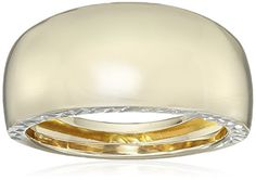 14k Yellow Gold Italian with DiamondCut Sides Band Ring Size 7 -- Check out the image by visiting the link.