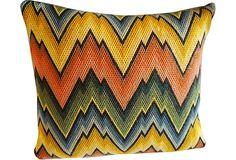 Groovy Needlepoint Bargello Pillow on OneKingsLane.com