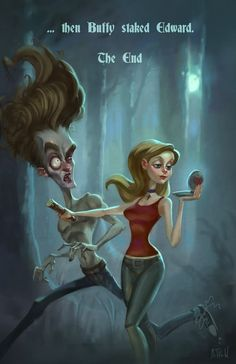 Buffy the Vampire Slayer stakes Edward Cullen from Twilight by Matthew S. Armstrong