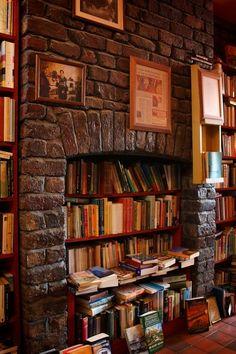 Bookstore Fireplace, Liverpool, England  photo via bonnie