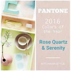 Pantone 2016 Colors of the Year: Rose Quartz & Serenity