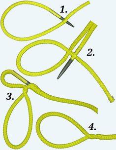 Spleißanleitung für einen Augspleiß beim Hohlseil