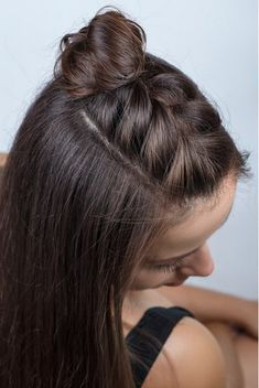 Half-Braided hair tutorial half braided hairstyles, braided hairstyles for black women, easy Half Braided Hairstyles, Braided Hairstyles Tutorials, Long Hairstyles With Braids, Easy Down Hairstyles, Hairstyles Pictures, Cute Hairstyles For Medium Hair, Beach Hairstyles, Fashion Hairstyles, Curly Braided Hair