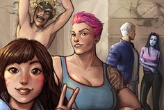 Some casual time for the Overwatch team Team Chilling by AngieBlues.deviantart.com on @DeviantArt