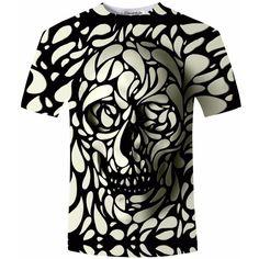 Unique Design Skull Print T-shirt - Skullflow  https://www.skullflow.com/collections/skull-clothing/products/unique-design-skull-print-t-shirt