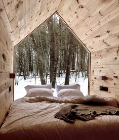 Rustic Italian Home Baroque Architecture, Architecture Design, Cabin In The Woods, Window Bed, Forest House, Tiny House Movement, Tiny House Design, My House, House Ideas