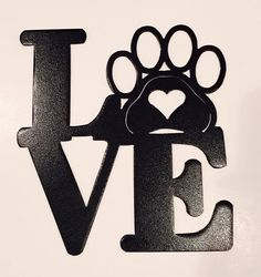 Dog Love Metal Wall Decor