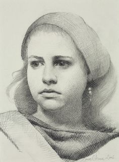 Louise C. Fenne - Molly pencil drawing.