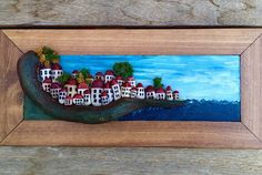 Red roof & white houses by the sea.. This is my first stone house…