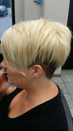 Hair By Lisa A fun Platinum accent undercut