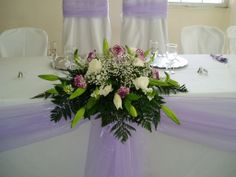 Pretty arrangement for head table