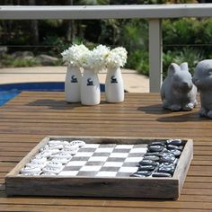Chess Board by The Inspired Paddock - I don't play chess, but if I had this I would!