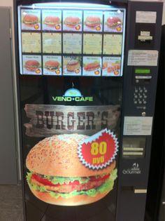 Burger Vending Machine In Moscow  モスクワのハンバーガーの自動販売機らしい。 気になるわ。