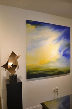 On this beautiful, sunny day we present you with two vibrant works by two of our fantastic contemporary artists: sculptor Matt Devine and painter Kathy Buist. Featured is Devine's Big Top #6 and Buist's Yesterday Afternoon. #contemporaryart #sculpture #painting #bosarts #boston #art #newburyst