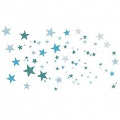 Stickers Etoiles constellation bleue - Art for Kids