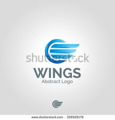 Wings logo template. Vector business icon. Corporate branding identity