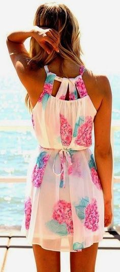 White little floral summer holiday dress