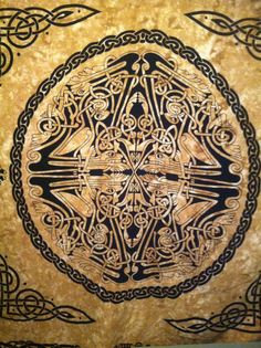 celtic snake knot hippie wall hanging tapestry by GrimyTreasure, $21.00