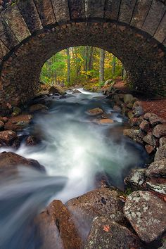 Cobblestone-Bridge,-Jordan-Pond,-Acadia-National-Park,-Maine