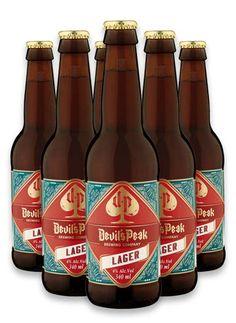 DEVILS PEAK LAGER #craftbeer #devilspeakbrewingco Brewing Co, Oclock, Craft Beer, Beer Bottle, Devil, Liquor, African, Drinks, Crafts