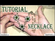 BeadsFriends: beading tutorial - Seed beads necklace - Peyote stitch - YouTube