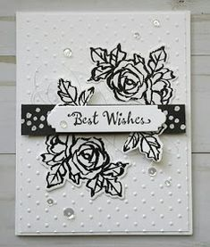 Stamping from the Heart .: Best Wishes for FMS 341 Birthday Cards For Women, Happy Birthday Cards, Best Wishes Card, Stamping Up Cards, Cards For Friends, Card Sketches, Flower Cards, Creative Cards, Anniversary Cards