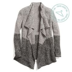 Do go chasin' waterfall… cardigans. Romantic draping elongates your frame while adding movement to simple outfits.