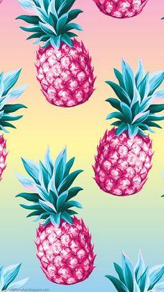 Pink Pineapple Wallpaper, Pineapple Art, Tropical Wallpaper, Summer Wallpaper, Colorful Wallpaper, Cute Patterns Wallpaper, Cute Wallpaper Backgrounds, Wallpaper Iphone Cute, Pretty Wallpapers