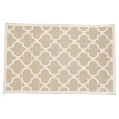 Kids' Rugs: Kids Khaki Woven Cotton Rug in Cotton Rugs, but cute enough for your room!
