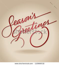 SEASON'S GREETINGS hand lettering - handmade calligraphy, vector (eps8); - stock vector #download #stock #StockImages #microstock #royaltyfree #vectors #calligraphy #HandLettering #lettering #design #letterstock #silhouette #decor #printable #printables #craft #diy #card #cards #label #tag #sign #vintage #typography